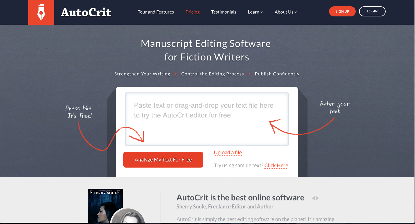 instantly improve your writing these editing tools ny unlike after the deadline autocrit is made specifically fiction writers in mind it s a premium online manuscript editing tool prices starting at
