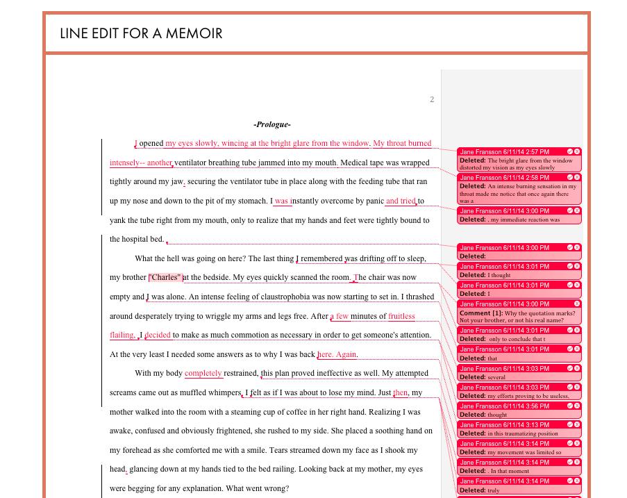 line-edit-for-memoir