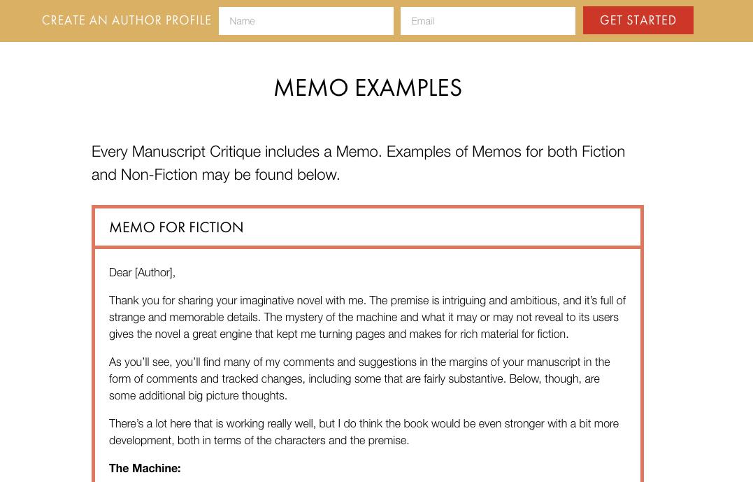 memo-samples